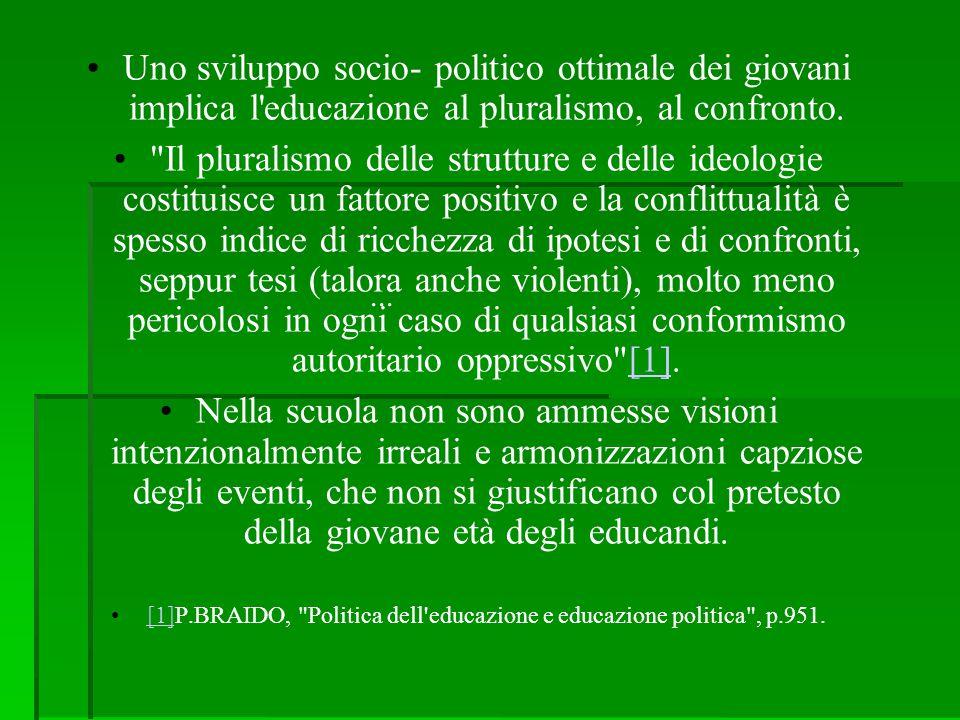 [1]P.BRAIDO, Politica dell educazione e educazione politica , p.951.